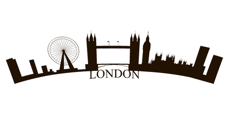 Isolated London skyline on a white background, Vector illustration
