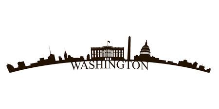 Isolated Washington skyline on a white background, Vector illustration Illustration