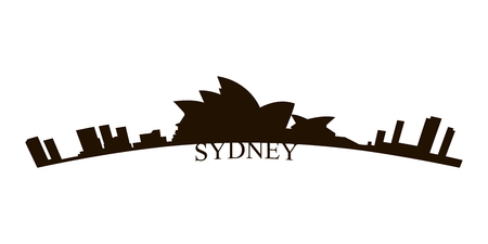 Isolated Sydney skyline on a white background, Vector illustration