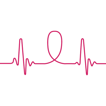 Isolierte rosa Schleife, Brustkrebs-Kampagne, Vektor-Illustration Standard-Bild - 81939805