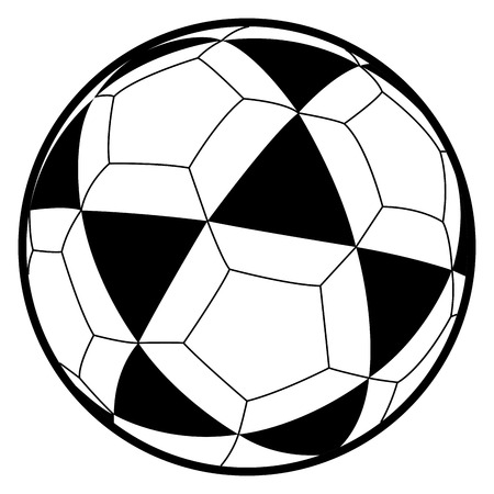 Isolated comic soccer ball on a white background, illustration