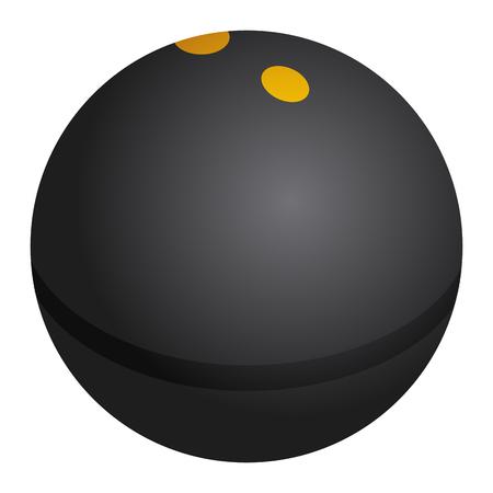 Isolated squash ball on a white background, illustration Illustration