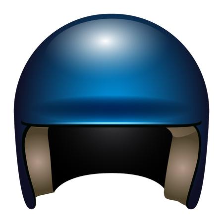 Isolated baseball helmet on a white background, vector illustration