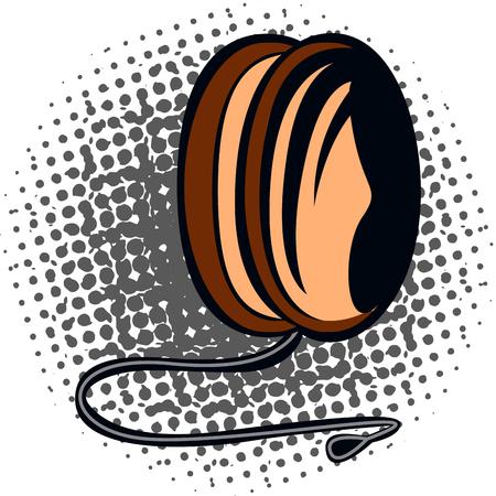 Isolated comic yo-yo on a white background, vector illustration Illustration