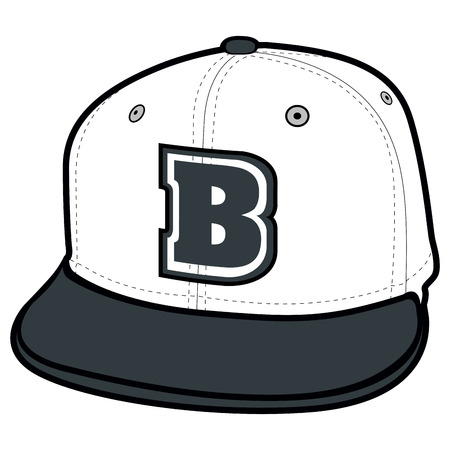 Isolated Baseball cap icon on a white background, vector illustration