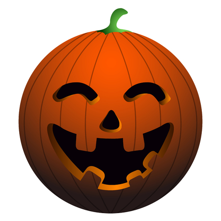 Isolated happy pumpkin on a white background, vector illustration