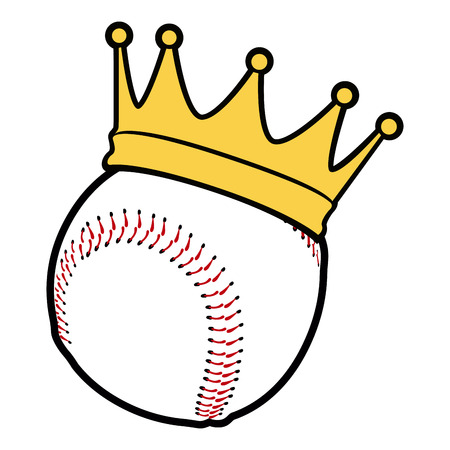 Isolated baseball ball with a crown, vector illustration Illustration