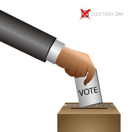 election day graphic design, democracy, vector illustration Illustration