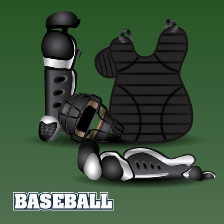 Isolated baseball uniform, vector illustration