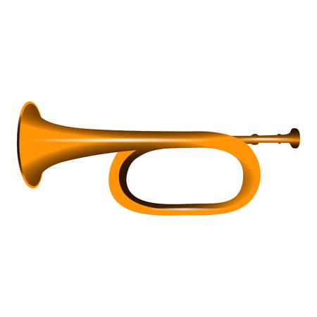 cornet: Isolated cornet icon on a white background, vector illustration Illustration