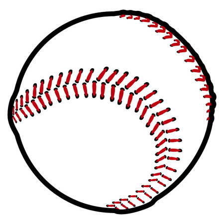 Isolated baseball ball icon on a white background, vector illustration