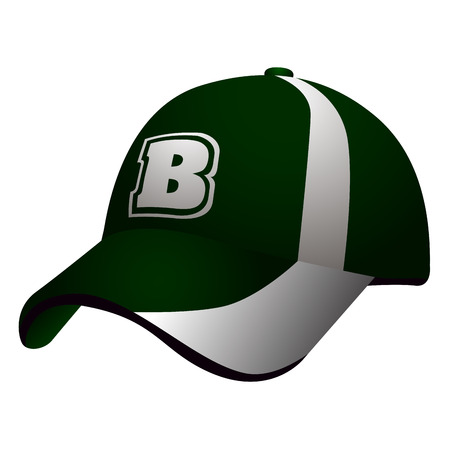 Isolated baseball cap on a white background, vector illustration