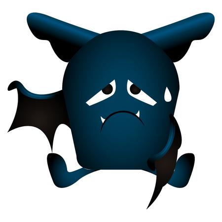 Isolated bat icon on a white background, vector illustration Illustration