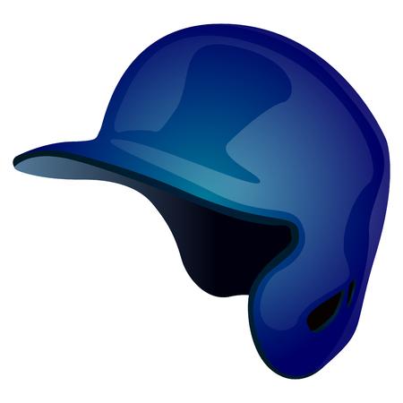Isolated baseball helmet.