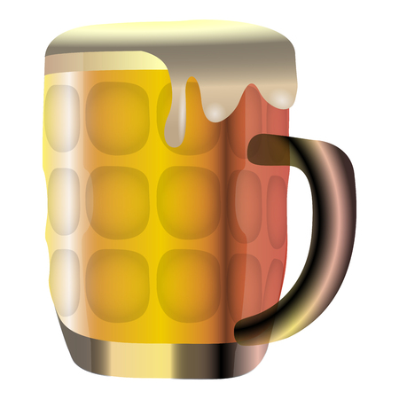 Isolated beer mug icon on a white background, vector illustration
