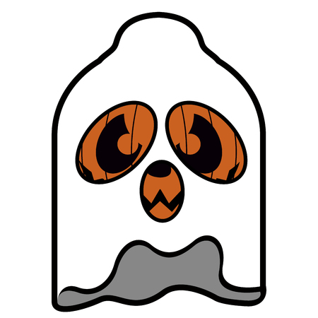 Isolated ghost pumpkin icon on a white background, vector illustration Illustration
