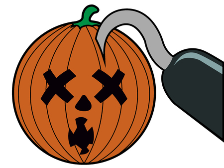 Isolated halloween pumpkin icon on a white background, vector illustration