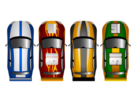 Set of racing cars.