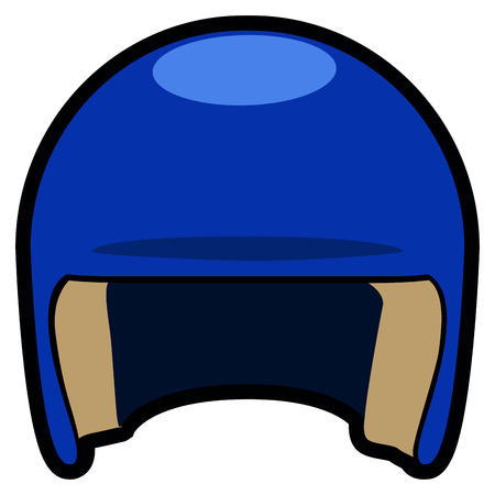 Isolated baseball helmet icon on a white background, vector illustration