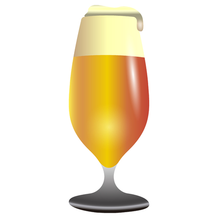 Isolated beer cup icon on a white background, vector illustration Illustration