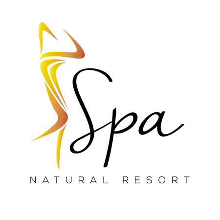 Isolated spa logo with a silhouette of a woman, vector illustration