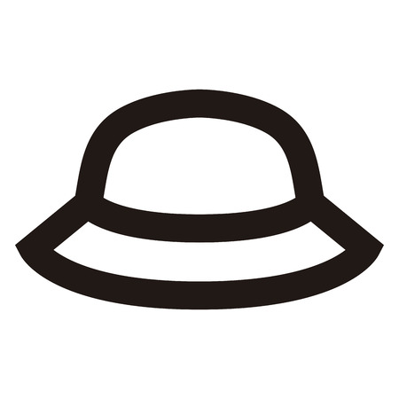 Isolated outline of a beach hat, Vector illustration Illustration