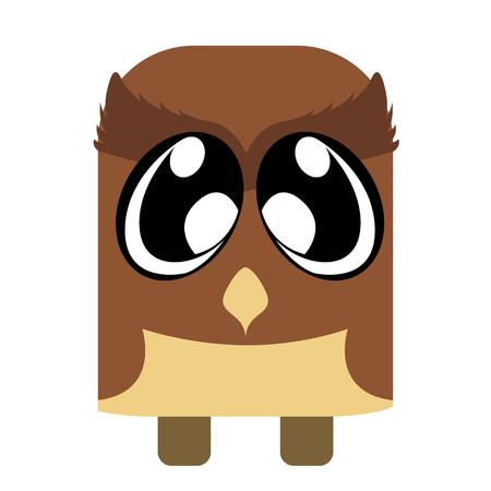 Cute owl in cartoon style. Illustration