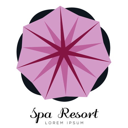 Isolated spa logo with a flower, vector illustration