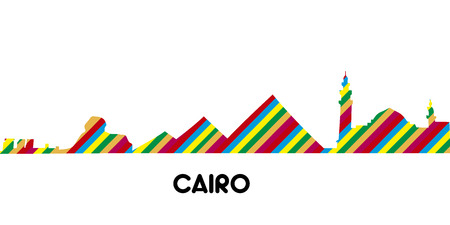 Skyline of Cairo on a white background, Vector illustration