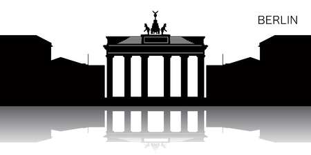 Silhouette of a cityscape of Berlin, Vector illustration