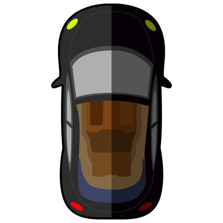 car isolated: Top view of a car, Vector illustration