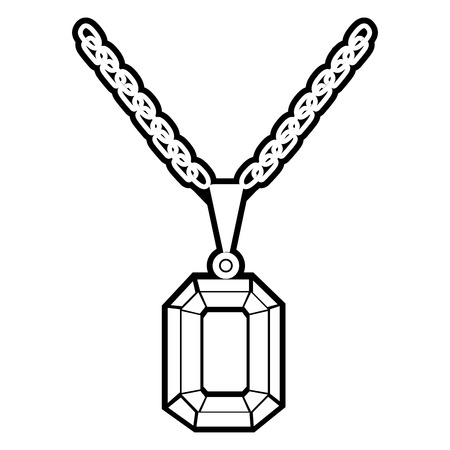 Isolated outline of a necklace, Vector illustration Illustration