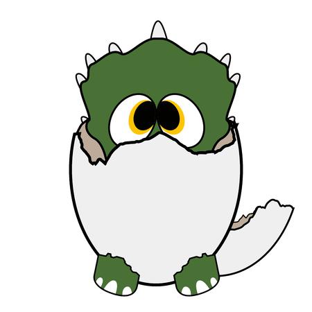 Isolated cute dinosaur on a white background, Vector illustration Illustration
