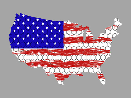 Isolated textured flag of united states, vector illustration