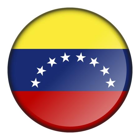 Botón de bandera aislado de venezuela sobre un fondo blanco, ilustración vectorial Foto de archivo - 87564599