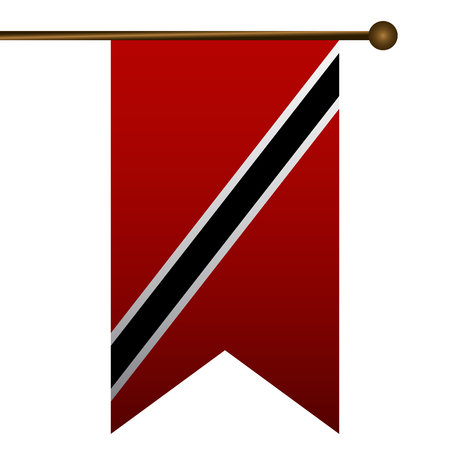 Isolated flag of trinidad and tobago on a white background, vector illustration