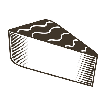 art piece: Isolated sketch of a piece of pie, Vector illustration