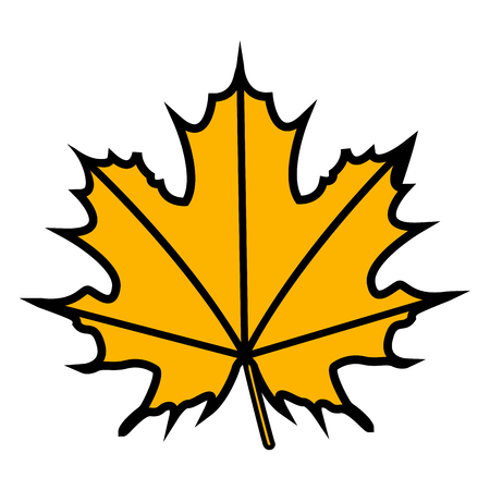 Isolated fall leaf on a white background, Thanksgiving day vector illustration