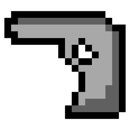 Isolated pixeled gun on a white background, Vector illustration