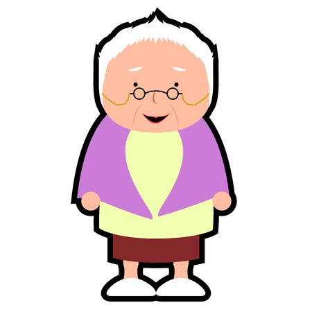 Isolated grandmother icon on a white background, Vector illustration
