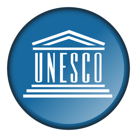 Isolated flag button of unesco on a white background, vector illustration