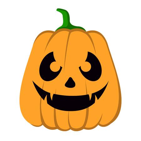 Lokalisierte Halloween-Steckfassung-Olaterne auf einem weißen Hintergrund, Vektorillustration