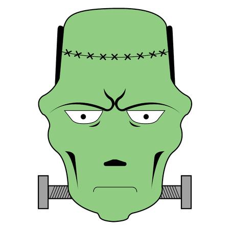Frankenstein avatar flat icon design vector illustration