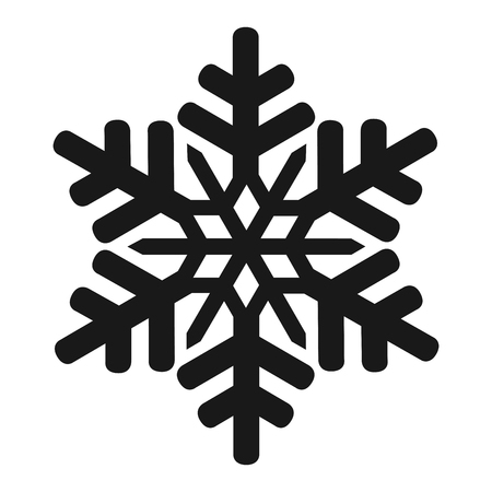 Isolated snowflake icon Stock Illustratie