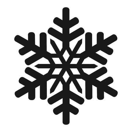Isolated snowflake icon Illustration