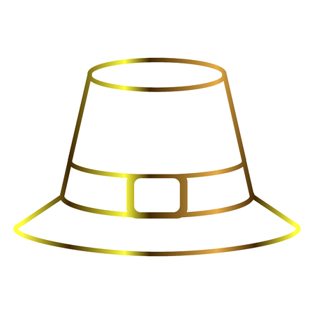 Pilgrim hat outline Illustration