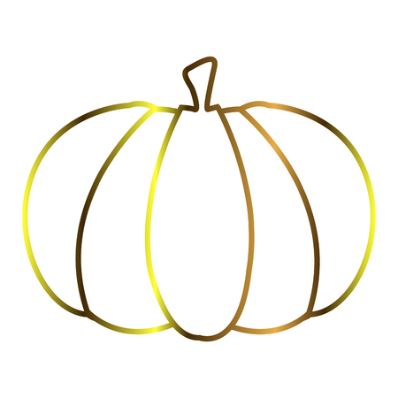 Isolated pumpkin outline