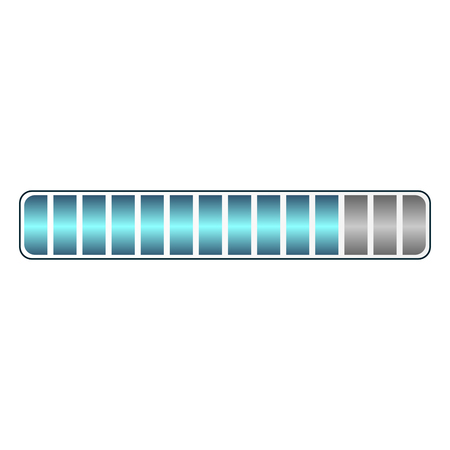 Bar charger icon on white background, vector illustration.