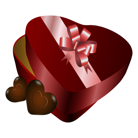 Chocolate box icon on white background, vector illustration. Ilustrace
