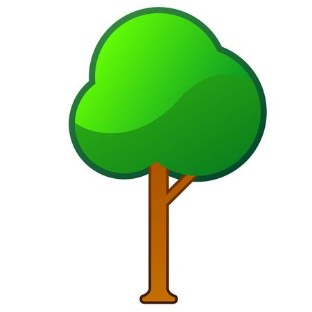 Isolated comic tree